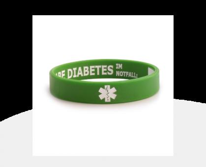 Diabetes Infoband green (diverse Größen)
