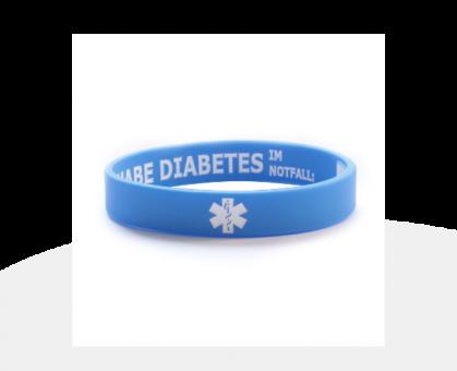 Diabetes Infoband sky blue (diverse Größen)