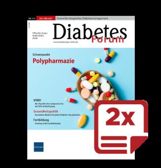 2 Probehefte Diabetes-Forum