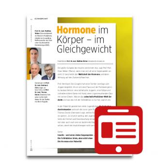 Schwerpunkt: Hormone im Körper - im Gleichgewicht