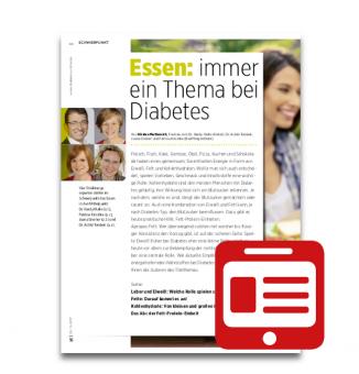 Schwerpunkt: Essen: Immer ein Thema bei Diabetes