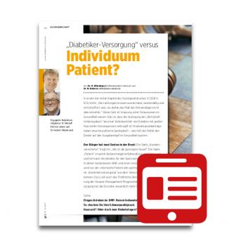 """Schwerpunkt: """"Diabetikerversorgung"""" versus Individuum Patient?"""