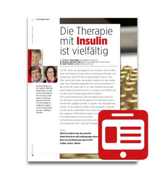 Schwerpunkt: Die Therapie mit Insulin ist vielfältig