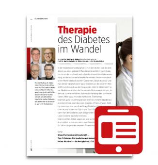 Schwerpunkt: Therapie des Diabetes im Wandel
