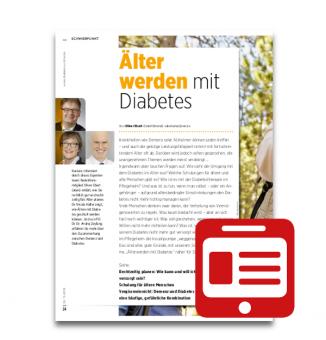 Schwerpunkt: Älter werden mit Diabetes