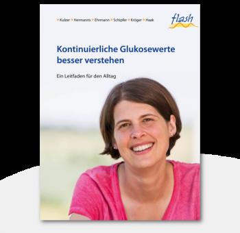 """flash Kontinuierliche Glukosewerte besser verstehen """"Patientenbuch"""""""