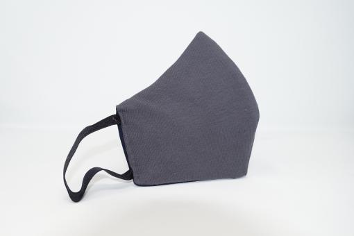 Mund-Nasen-Maske mit Hightech-Faser Motiv Dunkelgrau