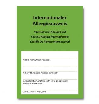 Internationaler Allergieausweis
