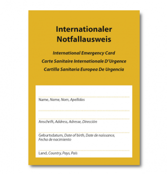 Internationaler Notfallausweis