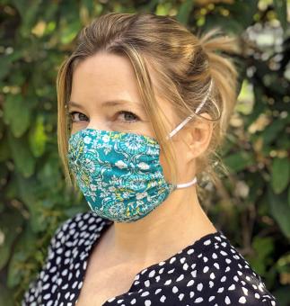 Mund-Nasen-Maske mit Tunnelzug