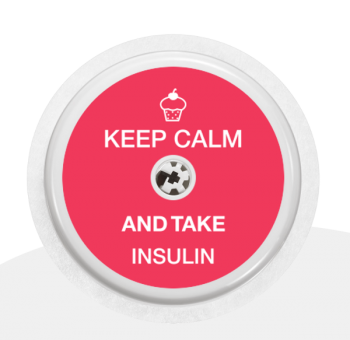 "Sticker Motiv ""Keep calm and take insulin"" für Ihren FreeStyle Libre Sensor"