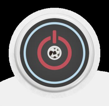 """Sticker Motiv """"On/Off"""" für Ihren FreeStyle Libre Sensor"""