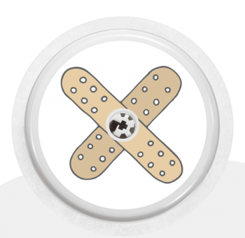 """Sticker Motiv """"Ouch"""" für Ihren FreeStyle Libre Sensor"""