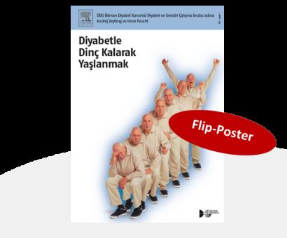 Diyabetle Dinç Kalarak Yaşlanmak / Flip-Chart für das Schulungsteam