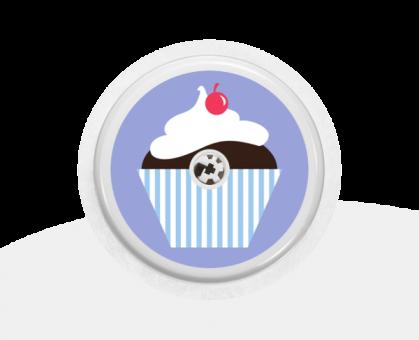 """Sticker Motiv """"Cupcake"""" für Ihren FreeStyle Libre Sensor"""