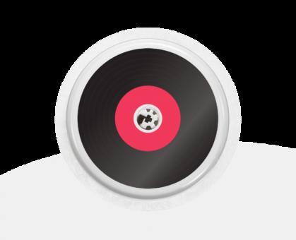 """Sticker Motiv """"Vinyl"""" für Ihren FreeStyle Libre Sensor"""
